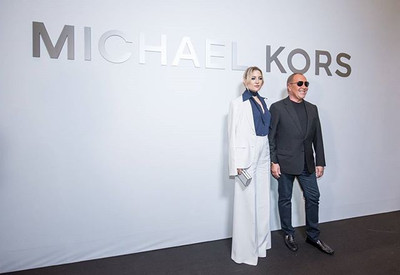 Michael Kors and Kate Hudson, at the off