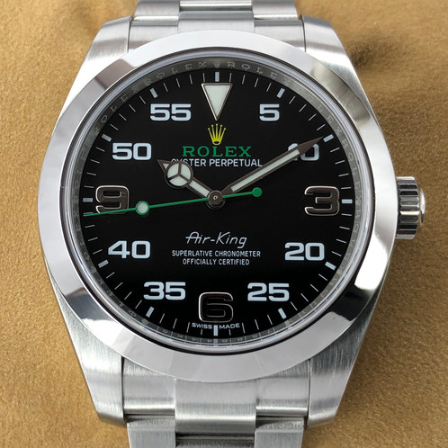 best service f996d 46c2a Rolex 116900 Air-King Oyster Perpetual, Black Dial - 2017