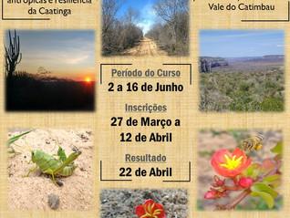 Inscrições abertas para o XII Curso de campo Ecologia e Conservação da Caatinga (ECCA)