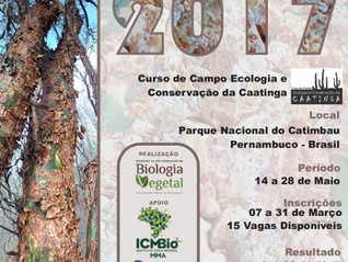 Registration for the Field Course on Ecology and Conservation of the Caatinga is already open