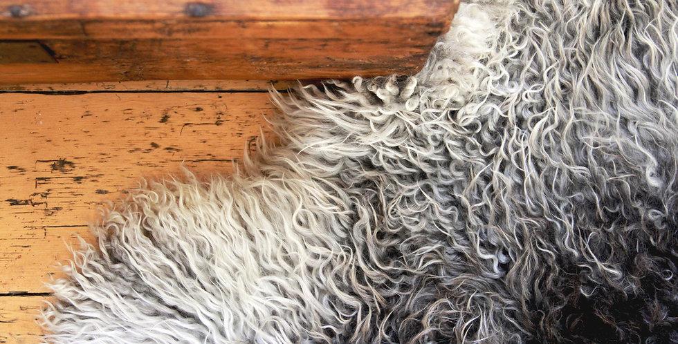 Gotland sheep skin rug