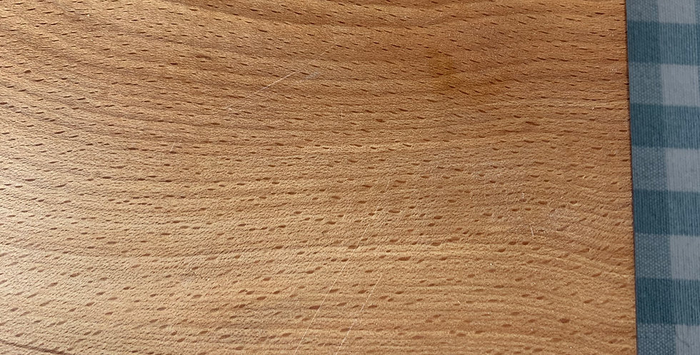 Natural wooden chopping board