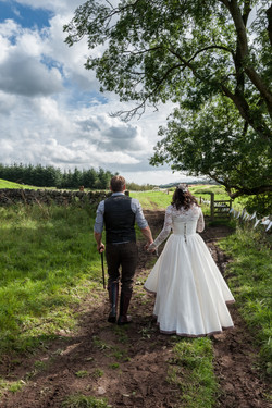 First walk as Mr & Mrs