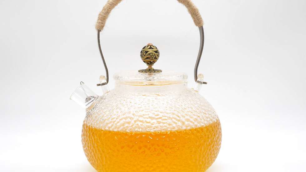 Dimpled Glass Teapot (600ml)