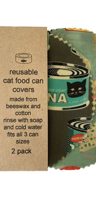 Beeswax Catfood Can Covers - Prints vary
