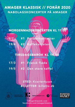 Plakatdesign for Amager Klassisk, 2019 - 2020