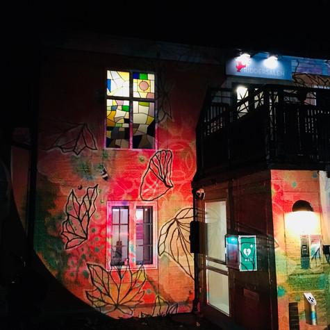 Analoge lyscollager på teater Riddersalen