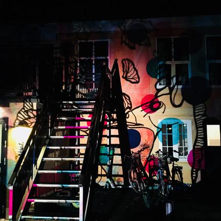 Analoge lyscollager på Teatret Riddersalen