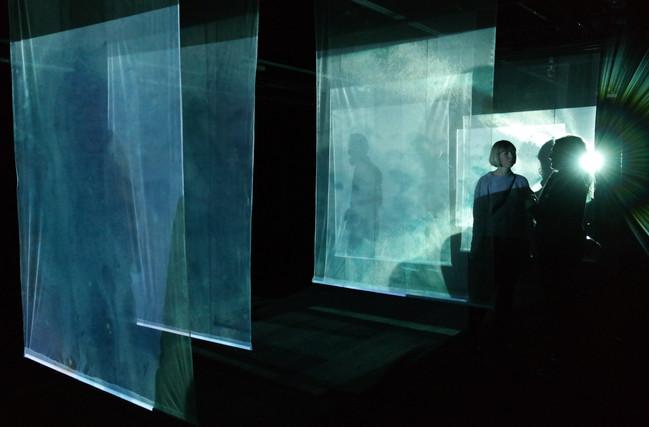 Videoprojektioner og tekstil // Experimentarium 2017