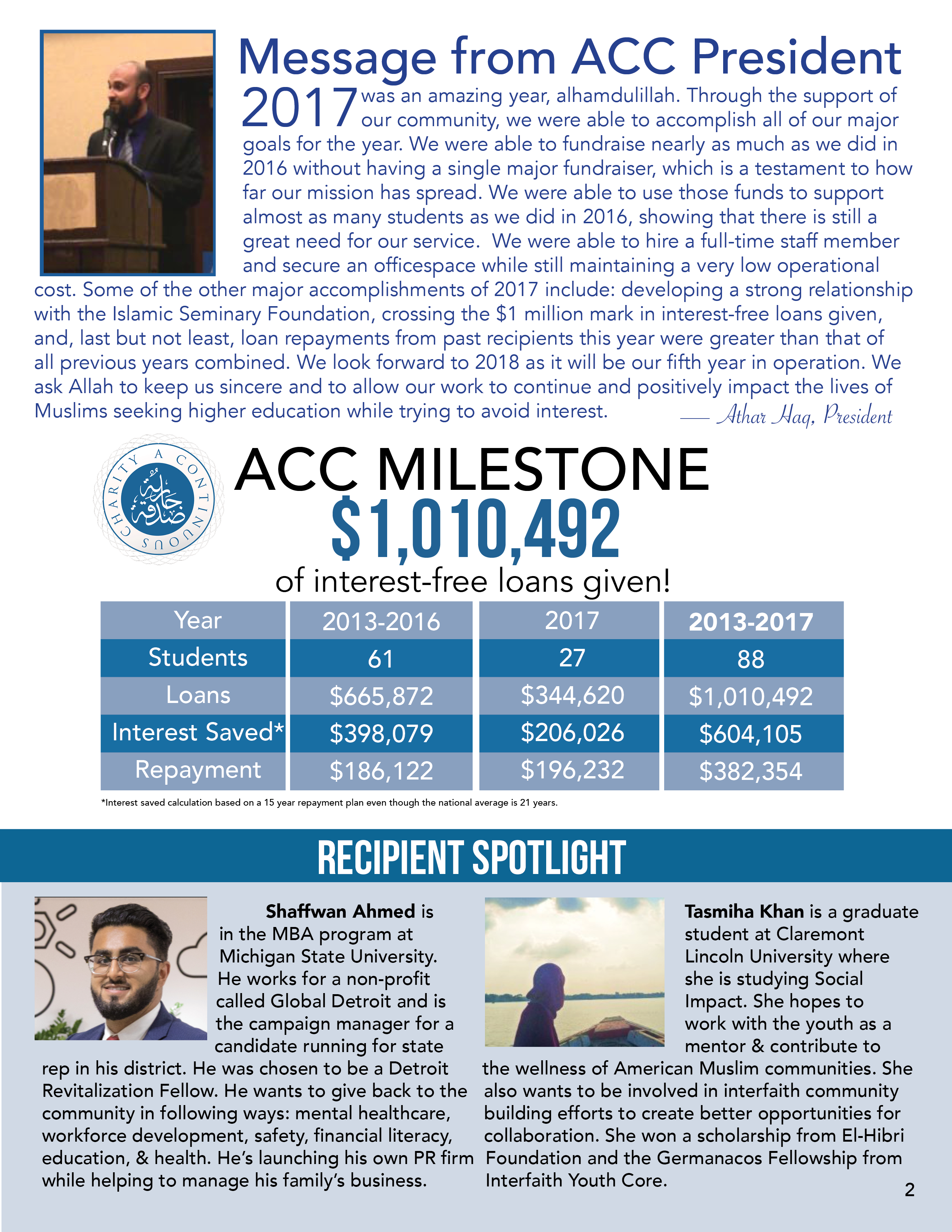 ACC Annual Report Page 2