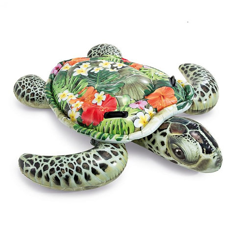 Intex Meeresschildkröte mit Hibiskus Blüten Print