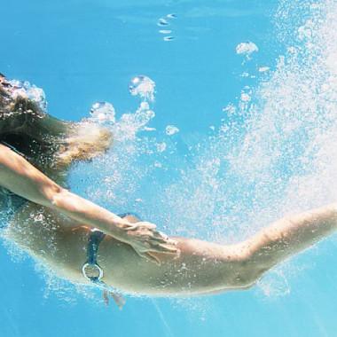Von der Sauna direkt in den Intex Pool springen