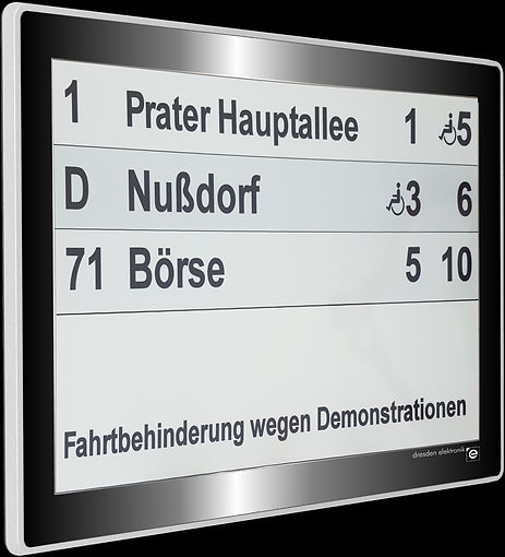 e-paper fahrplan, eink display, alternative haltestelle, stromsparendes display, solarbetriebenes display, energieautarke anzeige, dynpaper haltestelle