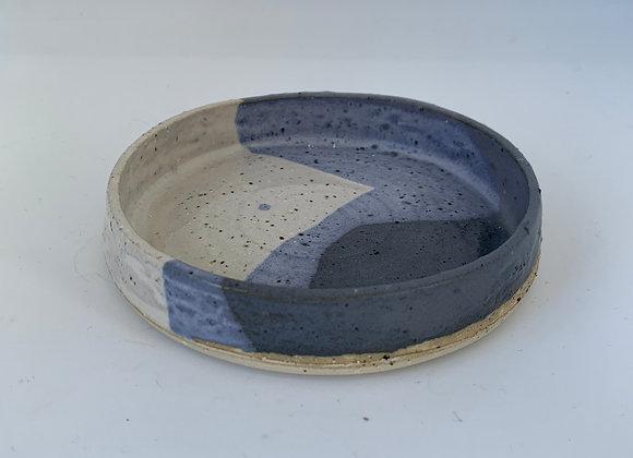 鈷藍小圓盤 Cobalt blue mini round plate