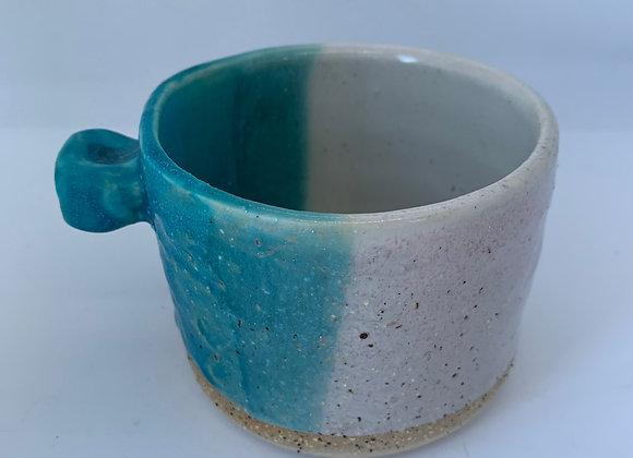 綠松石手感造型杯 (小) Turquoise round mug (S)