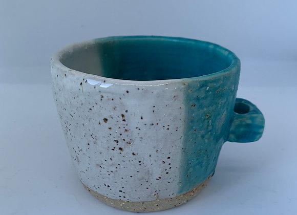 綠松石手感造型杯 Turquoise round mug