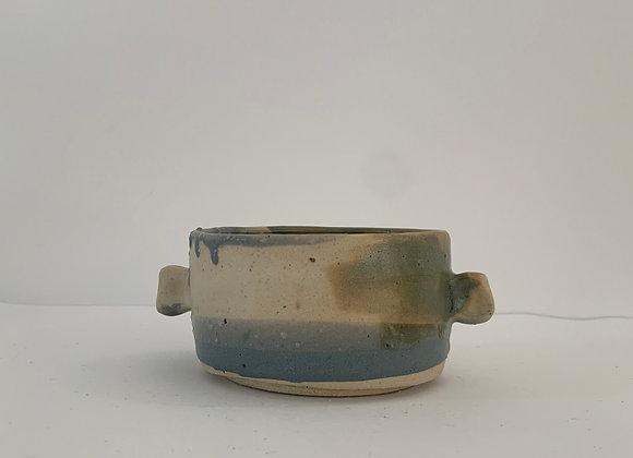 金紅石耳朵容器 Rutile blue humble ears bowl