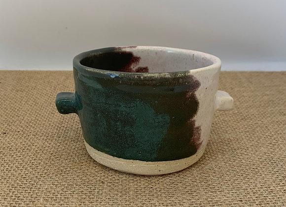 碧璽綠方點杯 Tourmaline square hand cup