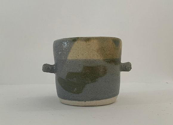 金紅石耳朵容器(大) Rutile blue humble ears bowl (L)