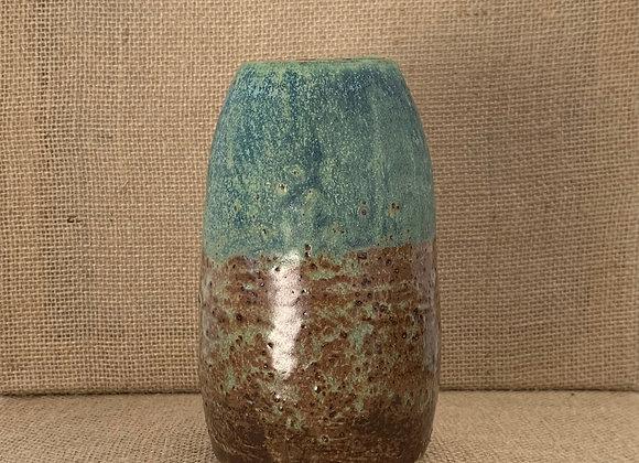 綠紋鐵斑花器 (大) Match turquoise matte vase (L)