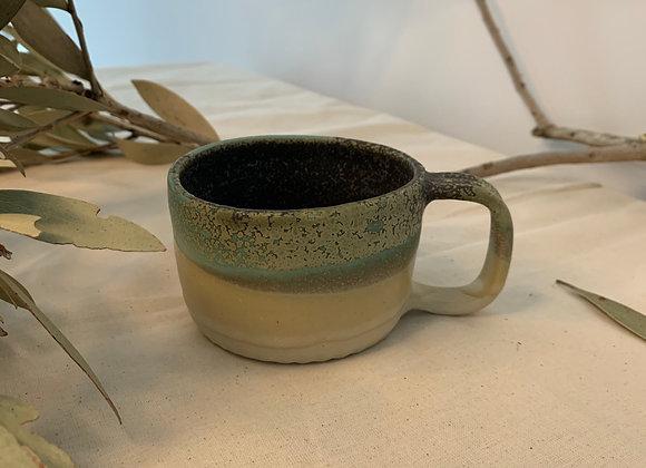 橄欖綠點杯 Olive green dot mug