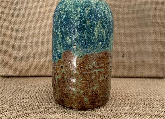綠紋鐵斑花器 (中) Match turquoise matte vase (M)