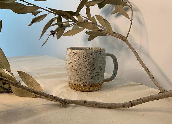 粉藍三色土杯 Earthy mug-light blue (L)