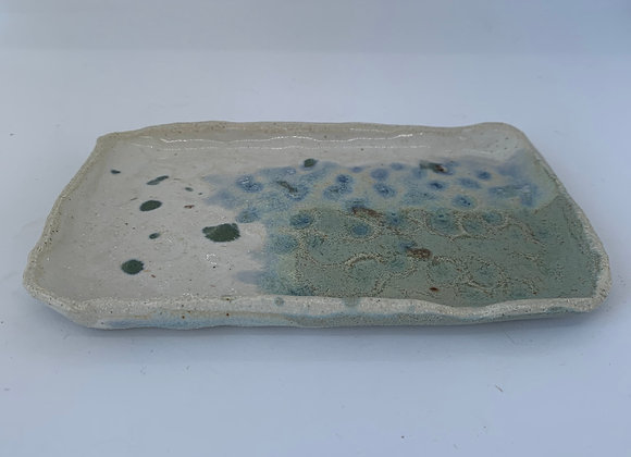 手感煙紫方盤 Tactile smokey lilac square plate