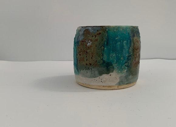 手感天空藍釉鐵杯 Tactile smokey lilac cup