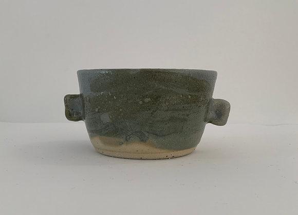 金紅石耳朵容器 (大) Rutile blue humble ears bowl (L)