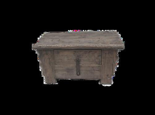 Petit autel de prière ancien en orme décapé