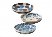Set de 3 assiettes en porcelaine