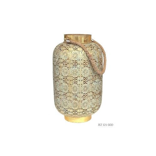 Lanterne florale or
