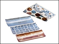 Set de 5 plats à sushi en porcelaine