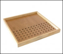 Plateau carré en bois clair