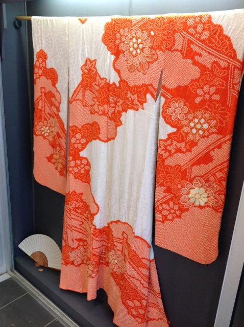 Kimono en soie Technique Chibori