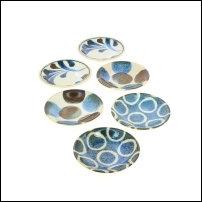 Set de 6 coupelles en porcelaine