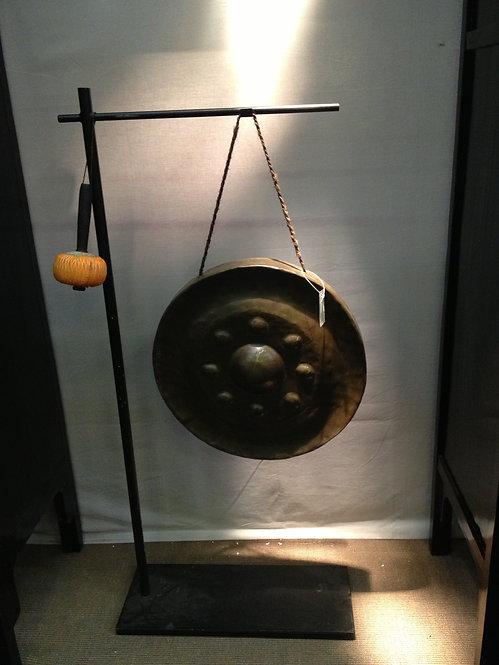 Gong ancien sur socle chine