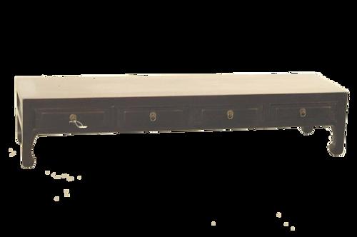 Meuble bas en orme laqué noir Shanxi