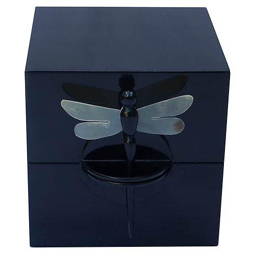 Boîte à bijoux en laque noire