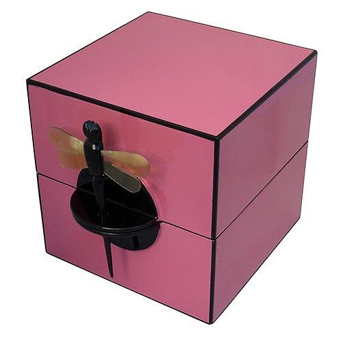 Boîte à bijoux laque rose