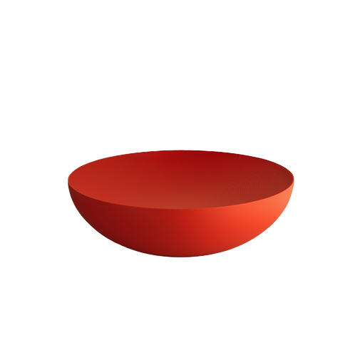 Moiré bol avec décoration en relief 32 cm