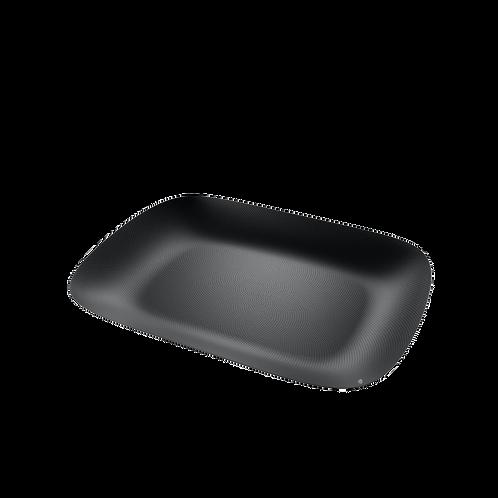 Moiré plateau Alessi noir avec relief
