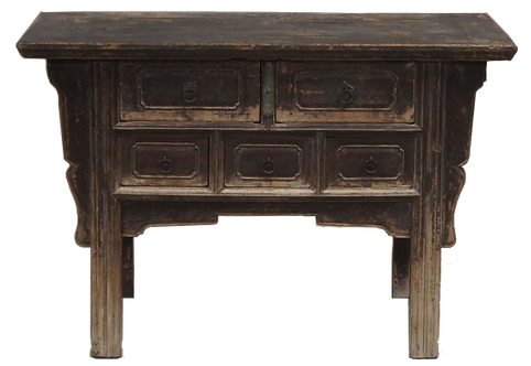Meuble ancien Shanxi en orme décapé