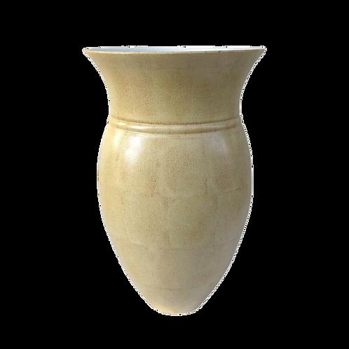 Vase généreux galuchat crème