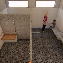 Projeto completo para a criação do banheiro acessível do CMEI Maria Angélica, realizado em 2018. Contem Projetos: arquitetônico, hidráulico, sanitário, memoriais e orçamentos, aprovação no corpo de bombeiros.