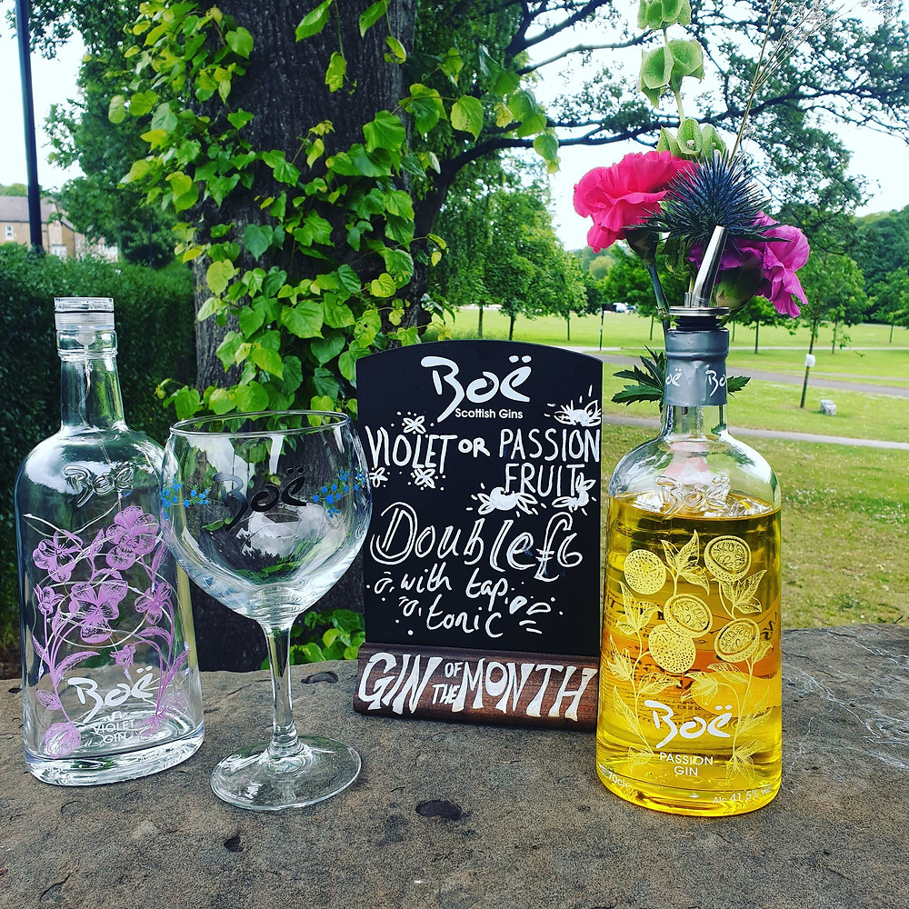 A photo of our gin of the month.