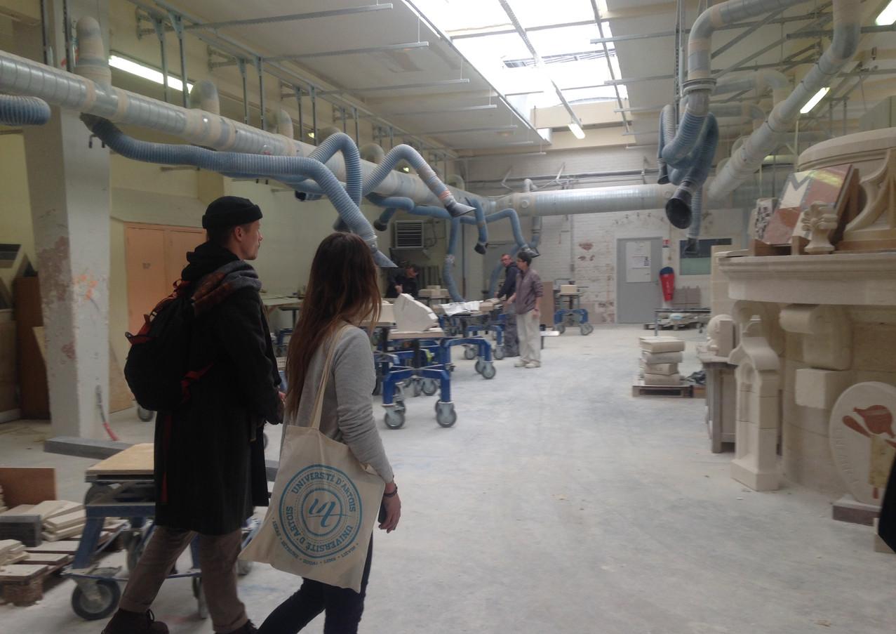 Visite du lycée Jacques Le Caron