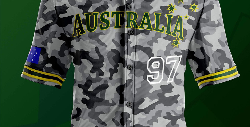 Jersey Baseball Australia Camo