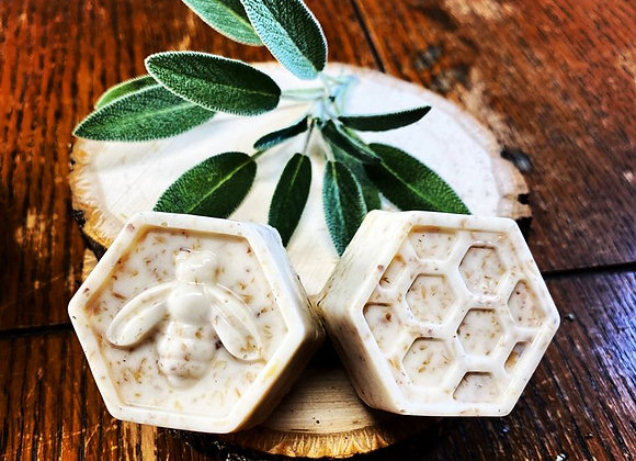 Organic Flax, Almond, and Honey Bar Soaps